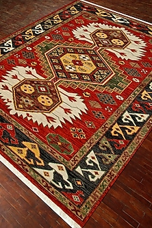 Red & Orange Kilim Hand-Knotted Rug by Jaipur Rugs