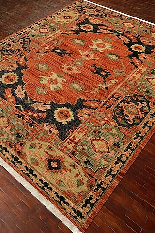 Red & Orange Oriental Hand-Knotted Rug by Jaipur Rugs