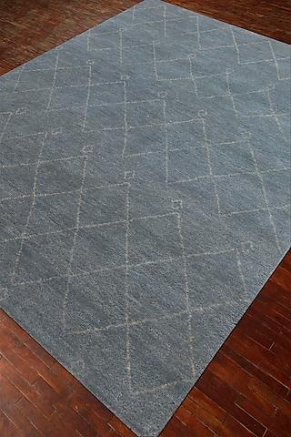 Green 100% Handspun Wool Morrocan Rug by Jaipur Rugs