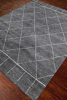 Grey & Black 100% Handspun Wool Nostalgia Rug by Jaipur Rugs