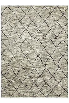 Beige & Brown 100% Hand-Spun Wool Morrocan Rug by Jaipur Rugs