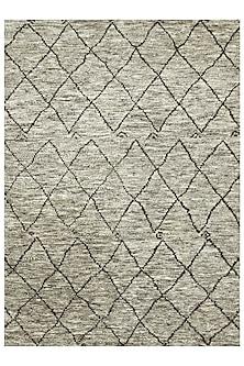 Beige & Brown 100% Hand-Spun Wool Morrocan Rug by Jaipur Rugs