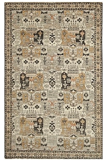 Ivory 100% Wool Hand-Knotted Oriental Rug by Jaipur Rugs