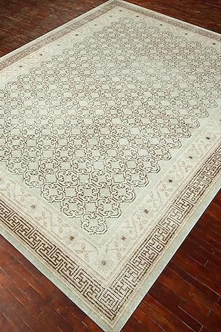 Blue 100% Wool Hand-Crafted Oriental Rug by Jaipur Rugs