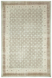 Blue 100% Wool Hand-Crafted Oriental Rug by Jaipur Rugs
