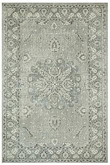 Black & Grey 100% Wool Vintage Oriental Rug by Jaipur Rugs