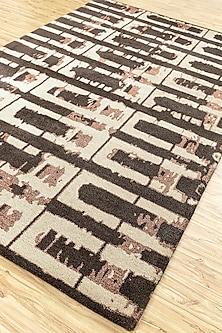 Grey & Black 100% Wool Abstract Rug by Jaipur Rugs