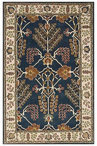 Blue 100% Wool Oriental Rug by Jaipur Rugs