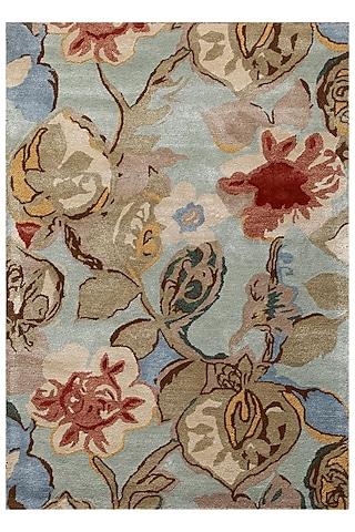 Blue Floral Oriental Rug by Jaipur Rugs