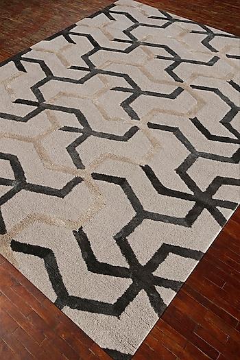 Ivory Modern Geometric Rug by Jaipur Rugs