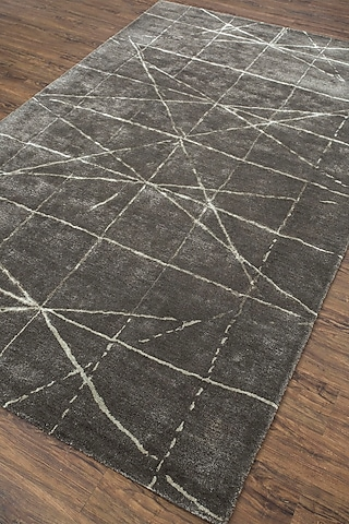 Grey & Black Geometric Rug by Jaipur Rugs