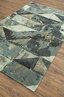 Blue Geometric Dritto Rug by Jaipur Rugs