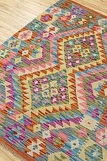 Gold Afghani Woolen Rug by Jaipur Rugs