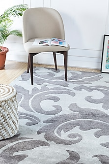 Grey & Black Patterned Rug by Jaipur Rugs