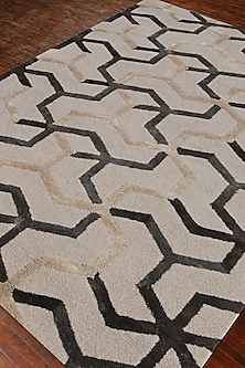 Ivory Geometric Patterned Rug by Jaipur Rugs