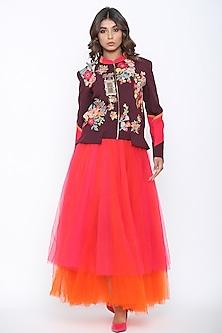 Marsala Bandgala Jacket by Jajaabor