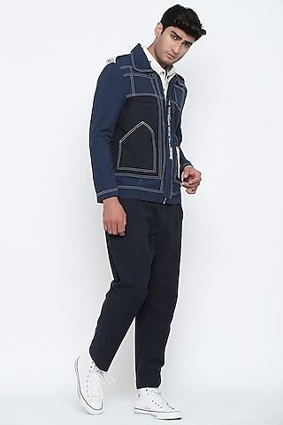 Indigo Blue Travellers Jacket by Jajaabor Men