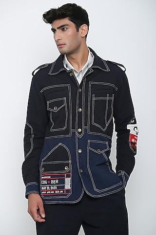 Indigo Blue Luggage Tag Shirt & Pants by Jajaabor Men