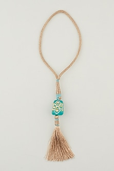 Gold Tanjore Stone Lumba by Jaypore Roots-SEND RAKHIS TO CANADA