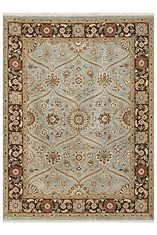 Blue Pure Wool Hand-Knotted Rug by Jaipur Rugs