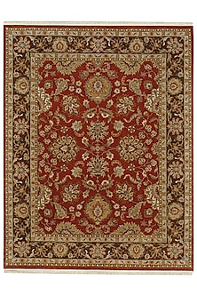 Rust Pure Wool Hand-Knotted Rug by Jaipur Rugs