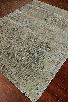 Fog Green Wool & Silk Hand-Knotted Rug by Jaipur Rugs