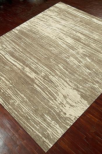 Classic Grey Wool & Silk Dark Toupe Rug by Jaipur Rugs
