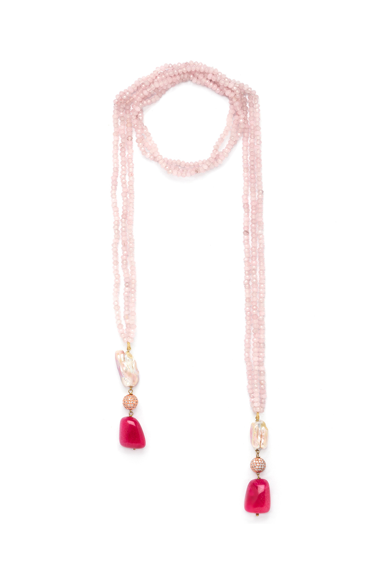 Gold Finish Baroque Pearl Necklace by Joules By Radhika