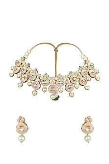 Gold Plated Meenakari Necklace Set by Joules By Radhika-Shop By Style