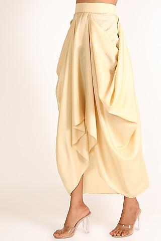 Beige Cowl Skirt by July