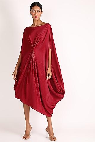 Red Off Shoulder Dress by July