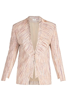 Brown Single Button Blazer by Jewellyn Alvares