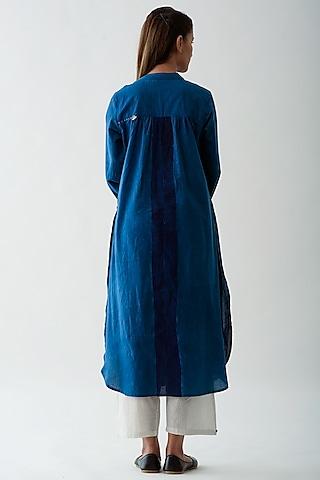 Indigo Blue Dyed Kurta by Jayati Goenka