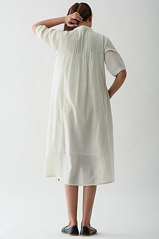White Striped Shirt Dress by Jayati Goenka