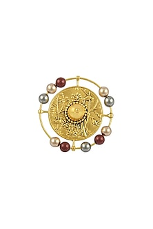 Gold Plated Isfahan Ring by JJ Valaya X Swarovski