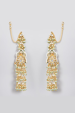 Gold Finish Ghugroo Earrings by Just Jewellery
