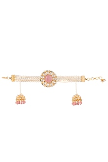Gold Finish Pearl & Beaded Bracelet by Just Jewellery