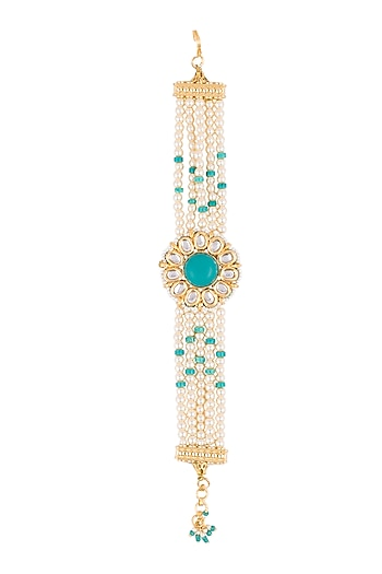 Gold Finish Turquoise Stone Bracelets by Just Jewellery