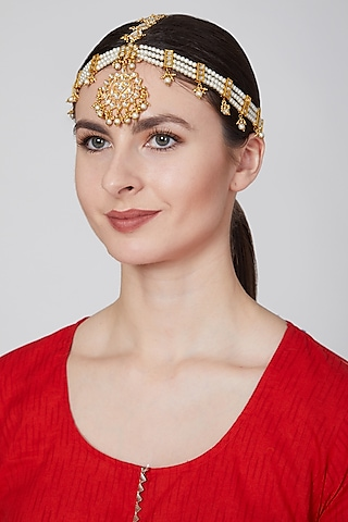 Gold Plated Chand Mathapatti by Just Jewellery