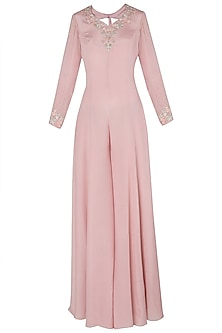Pink Embroidered Jumpsuit by Julie by Julie Shah