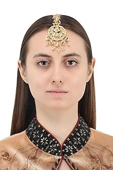Gold Plated Jadtar Maangtika by Just Jewellery
