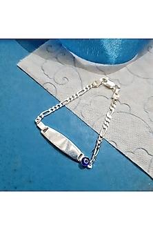 White Finish Evil Eye Kids Bracelet Rakhi by JewelitbySZ