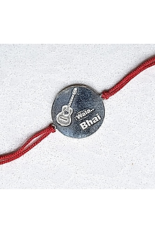 White Finish Guitar Bracelet Rakhi by JewelitbySZ
