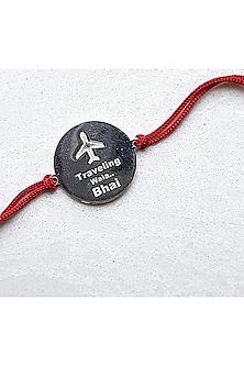 White Finish Travel Lover Bracelet Rakhi by JewelitbySZ