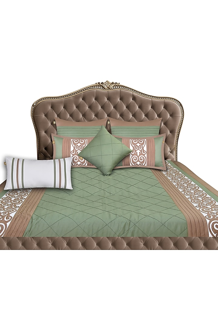 Sage Green Bed Sheet Set (Set of 7) by Jazz My Home