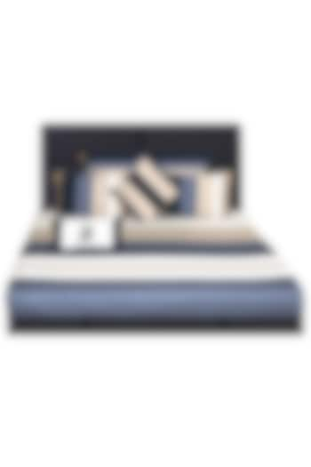 White Striped Bedsheet Set (Set of 7) by Jazz My Home