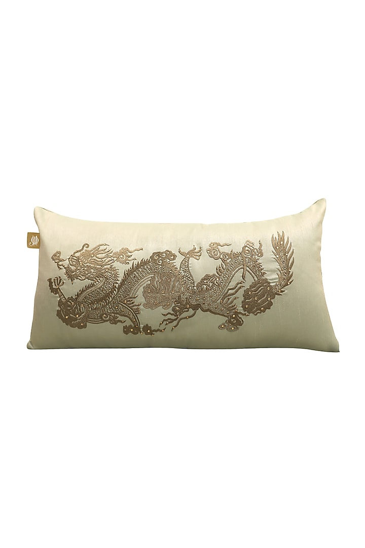 Leafy Green Embellished Pillow Cover by Jazz My Home