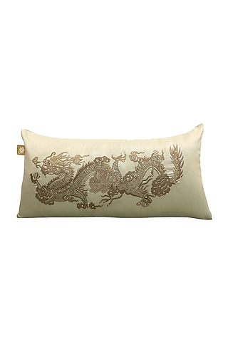 Leafy Green Embellished Pillow by Jazz My Home