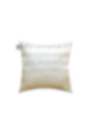 Stone Beige Embroidered Cushion by Jazz My Home