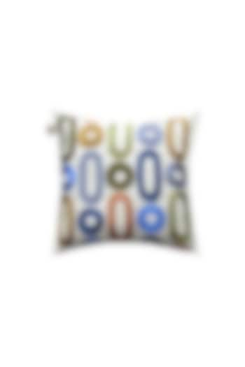 Stone Beige Thread Work Cushion Cover by Jazz My Home